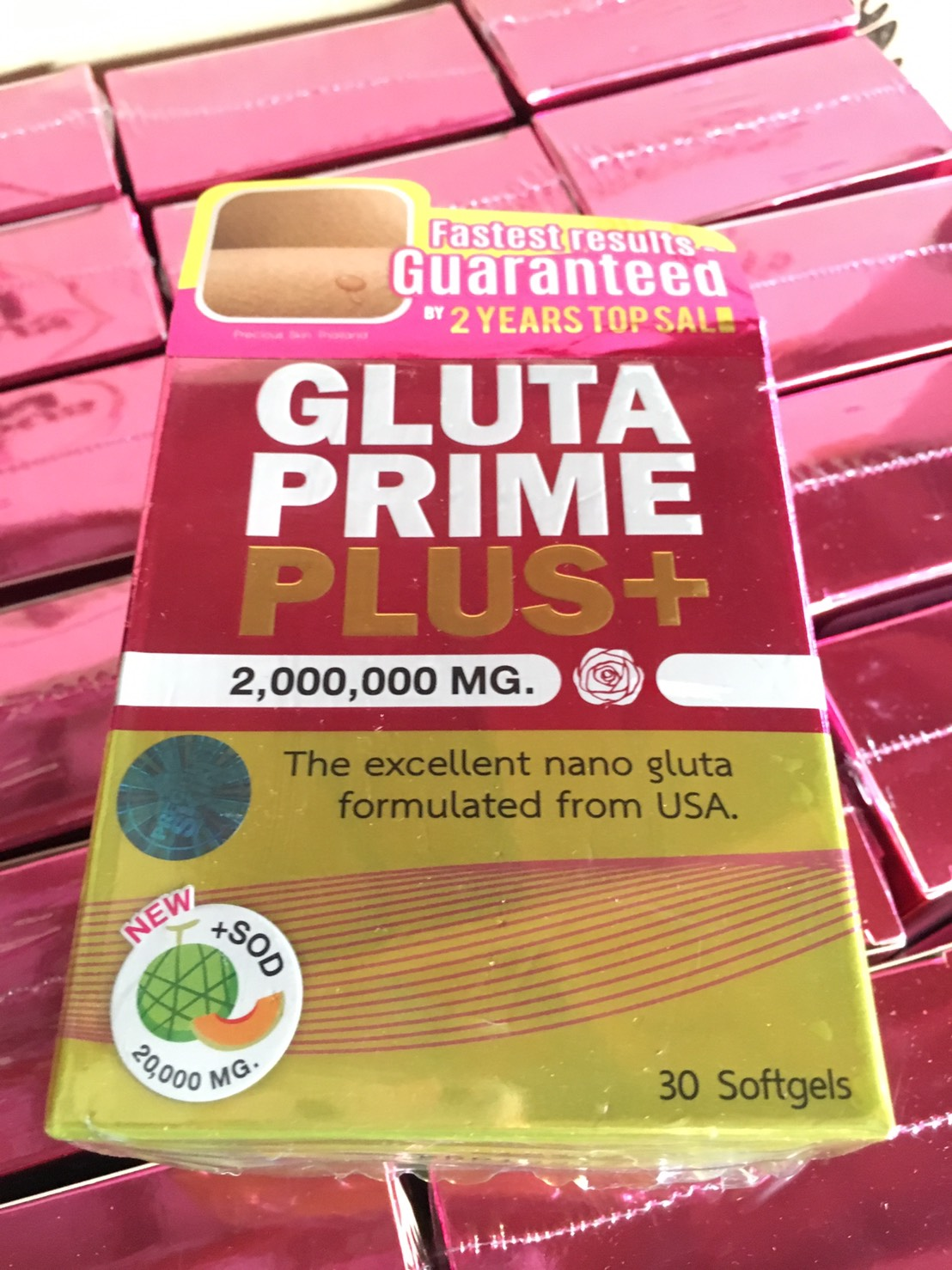 NEW 30 PILLS SOFT GEL GLUTA PRIME PLUS 2,000,000mg NANO
