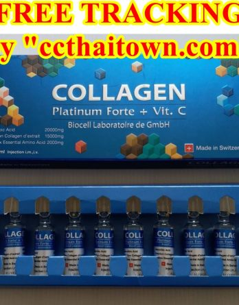 COLLAGEN PLATINUM FORTE + VIT. C BIOCELL BLUE (SWISS) INJECTION by www.ccthaitown.com